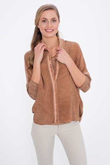Silk and Cashmere Gömlek Bej